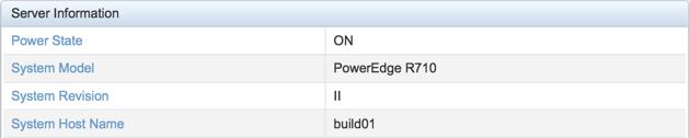 Dell iDrac7 web GUI screenshot